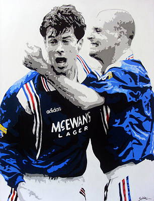 Ally Painting - Rangers 9 In A Row  by Scott Strachan