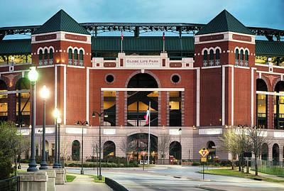 Photograph - Rangers Baseball Stadium 31017 by Rospotte Photography