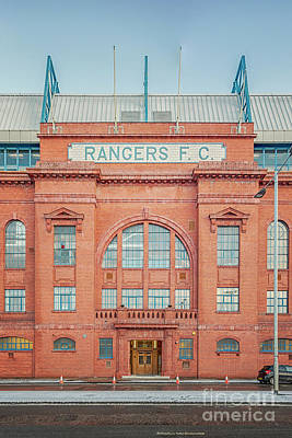 Photograph - Rangers Ibrox Stadium Facade by Antony McAulay