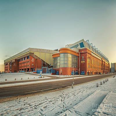Photograph - Rangers Ibrox Stadium Road by Antony McAulay
