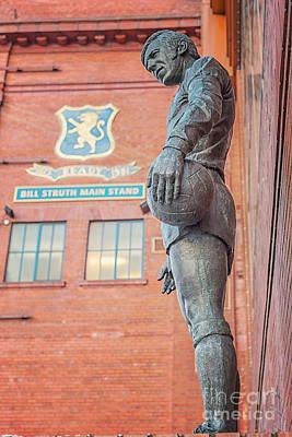 Photograph - Rangers Ibrox Stadium Statue by Antony McAulay