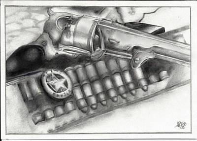 Colt 45 Drawing - Rangers Rig by Trey McCoy