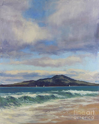 Painting - Rangitoto, New Zealand by Kristen Olson Stone