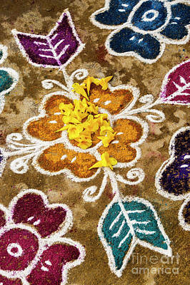 Photograph - Rangoli  by Tim Gainey