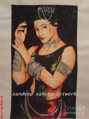 Alfred George Stevens Drawing - Rani Mukerjee by Sandeep Kumar Sahota