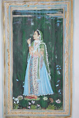 Painting - Rani Waiting For Her Raja by Vikram Singh