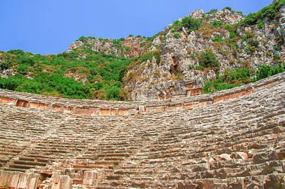 Photograph - Ranks Of The Roman Theatre Of Myra by Sun Travels