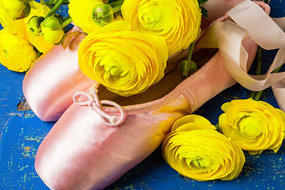 Photograph - Ranunculus And Ballet Slippers by Garry Gay