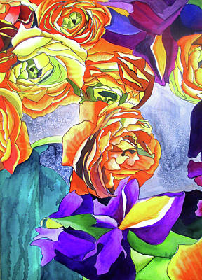 Painting - Ranunculus And Iris by Sacha Grossel