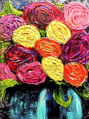 Mixed Media - Ranunculus Abstract by Betty-Anne McDonald