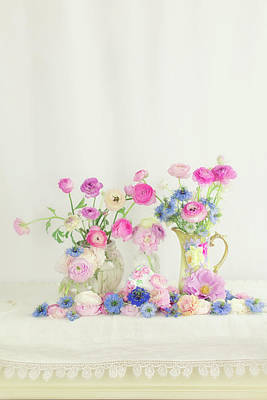 Photograph - Ranunculus With Love In A Mist by Susan Gary