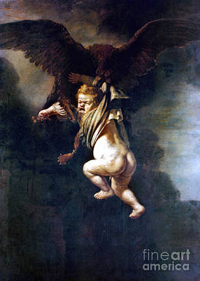 Zeus Painting - Rape Of Ganymede by Granger