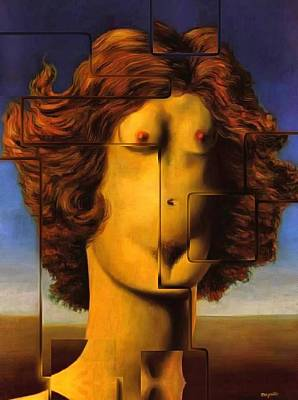 Rene Magritte Painting - Rape Rene by Mario Carini
