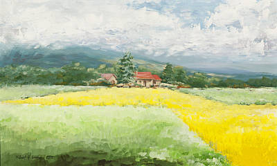 Painting - Rape Seed Farm by Robert Foster