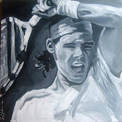 Raphael Nadal Painting - Rapha by Sarah LaRose Kane