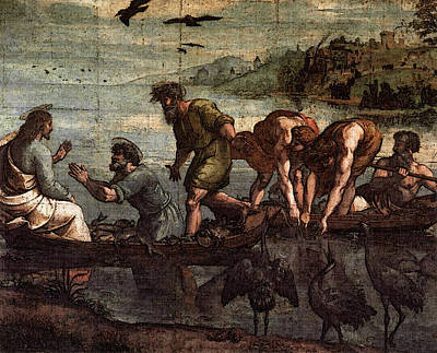 Miraculous Digital Art - Raphael The Miraculous Draught Of Fishes by Raphael