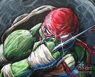 Sai Painting - Raphael  by Tyler Haddox