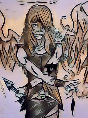 Rapheal Angel Of Air Art Print
