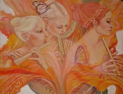Pastel - Raphsody On An Iris by Pamela Mccabe