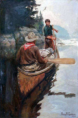 Painting - Rapids Ahead by Philip R Goodwin