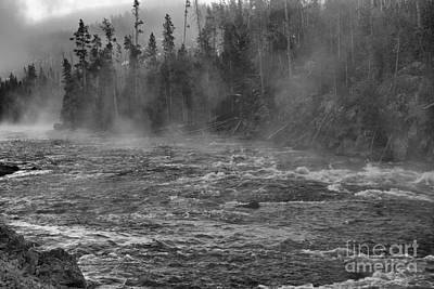 Photograph - Rapids And Morning Mist by Nadalyn Larsen