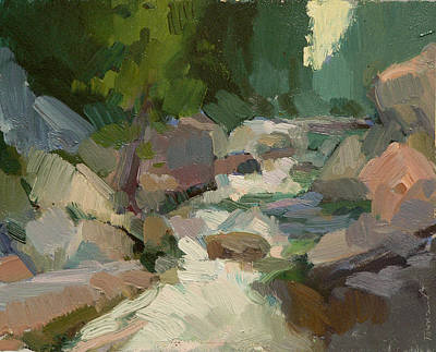 Salmon Painting - Rapids At Salmon La Sac by Kathryn Townsend