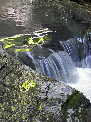 Rapids At Watkins Glen Print by Elizabeth Hoskinson