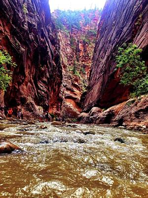Photograph - Rapids In Zion National Park by Alexis Lee Scott