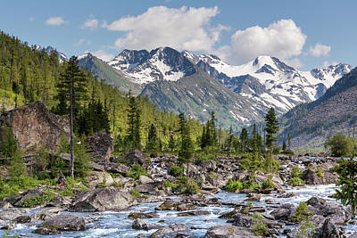 Photograph - Rapids Noise. Multinsky Lakes. Altai by Victor Kovchin