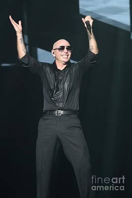 Rapper Pitbull Art Print by Concert Photos
