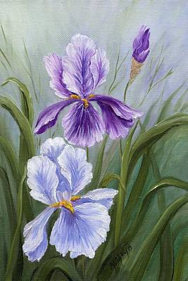 Rapsody Iris Art Print by Marveta Foutch