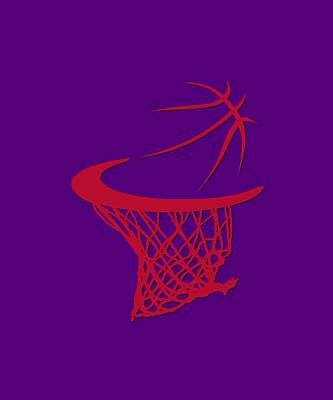 Raptors Basketball Hoop Art Print