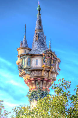 Photograph - Rapunzel Castle Tower by Mark Andrew Thomas