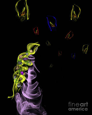Digital Art - Rapunzel's Magic Flower Braid by Samantha Guindon