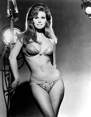 Bare Midriff Photograph - Raquel Welch, Portrait From The Film by Everett