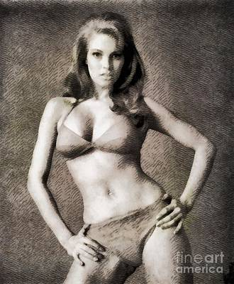 Raquel Welch, Vintage Hollywood Actress Art Print by John Springfield