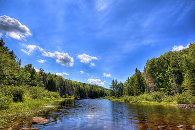 Canoes Photograph - Raquette River Headwaters by David Patterson