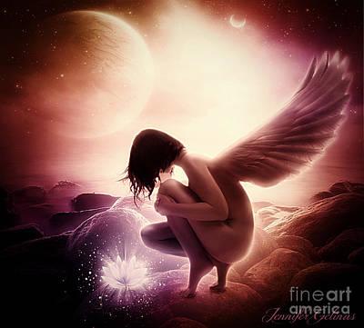 Rock Angels Digital Art - Rare Beauty by Jennifer Gelinas