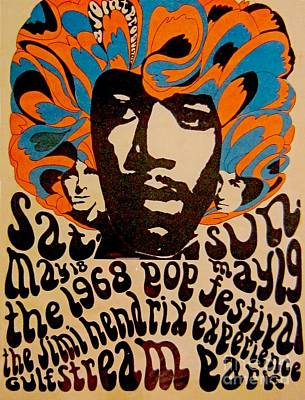Advertise Mixed Media - Rare Hendrix Collectable Poster by Pd