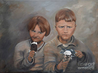 Painting - Rare Treat - Willie And Murrell-the Depression Era by Jan Dappen