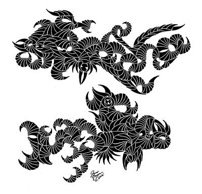 Pisces Fish Drawing - Rare Two by James Bogner