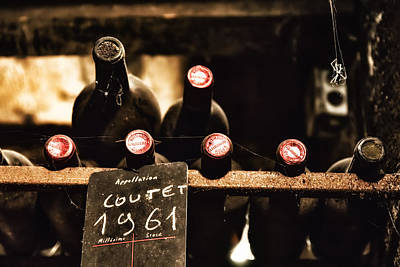 Vintage Wine Lovers Photograph - Rare Vintage Wine In The Cellar by Georgia Fowler