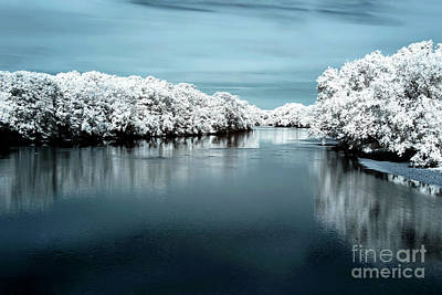 Photograph - Raritan River Blue Infrared by John Rizzuto