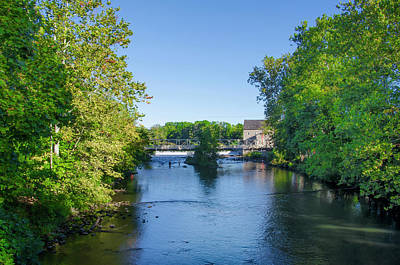 Raritan River - Clinton New Jersey  Art Print