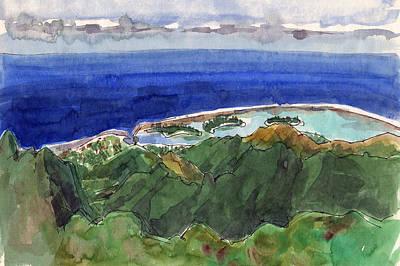 Painting - Rarotonga, View From Te Manga by Judith Kunzle