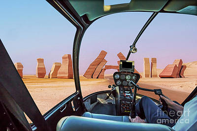 Photograph - Ras Mohammed Helicopter by Benny Marty