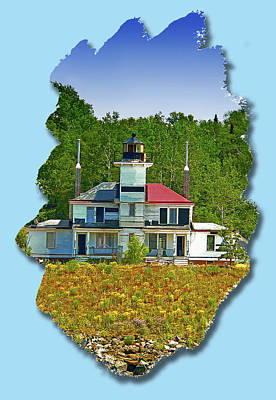 Photograph - Raspberry Island Light by Gordon Engebretson