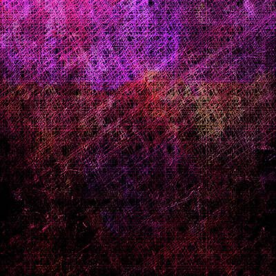 Digital Art - Rasberry Lattice by Dorothy Berry-Lound