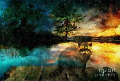 Digital Art - Rascal's Sunset by Maria Urso