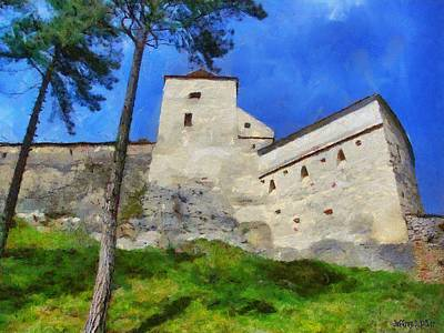 Painting - Rasnov Fortress by Jeff Kolker